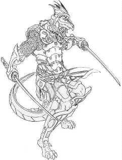 lizard man hrzar warrior